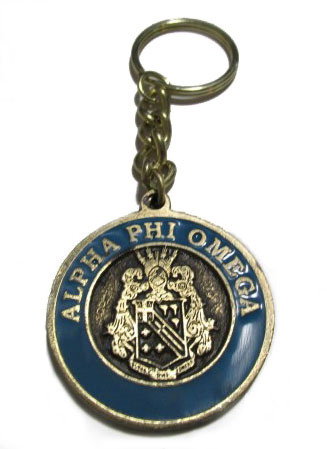 Alpha Phi Omega Metal Fraternity Key Chain
