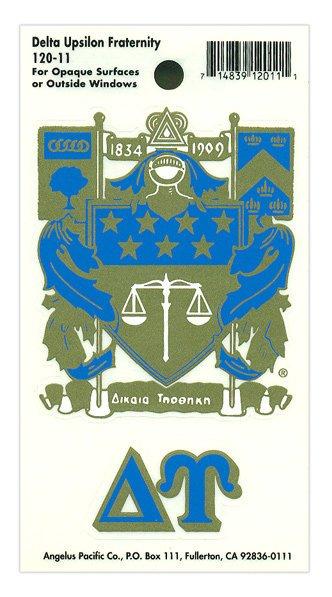 Delta Upsilon Crest - Shield Decal