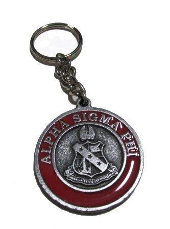 Alpha Sigma Phi Metal Fraternity Key Chain