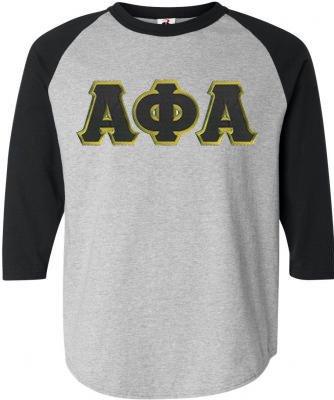 DISCOUNT- Alpha Phi Alpha Lettered Raglan T-Shirt