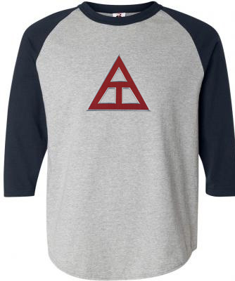 DISCOUNT- Triangle Fraternity Lettered Raglan Shirt