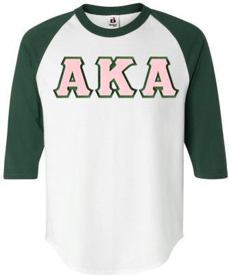 DISCOUNT-Alpha Kappa Alpha Lettered Raglan Shirt