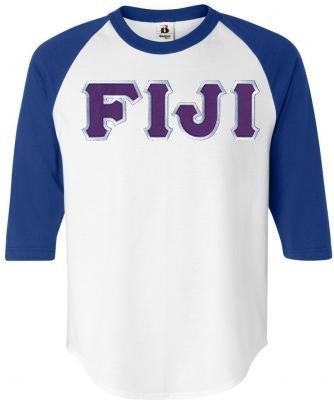 DISCOUNT- FIJI Fraternity Lettered Raglan T-Shirt