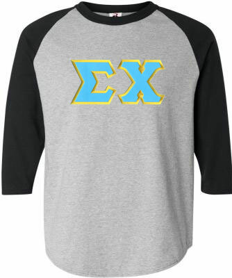 DISCOUNT- Sigma Chi Lettered Raglan T-shirts