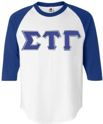 DISCOUNT- Sigma Tau Gamma Lettered Raglan T-Shirt