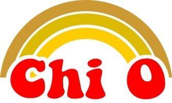 Chi Omega Rainbow Decals