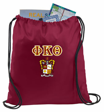 Phi Kappa Theta Crest - Shield Cinch Sack