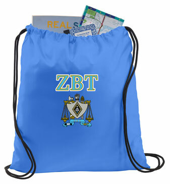 Zeta Beta Tau Crest - Shield Cinch Sack
