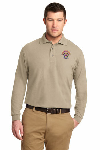 DISCOUNT-Alpha Kappa Lambda Emblem Long Sleeve Polo