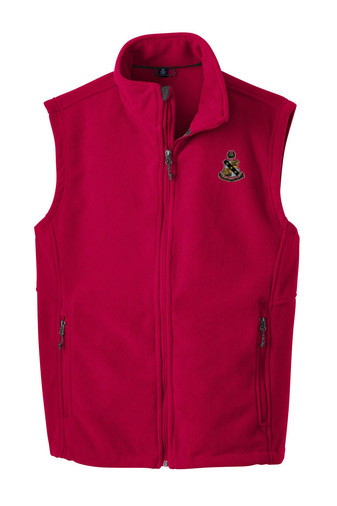 Alpha Sigma Phi Fleece Crest - Shield Vest
