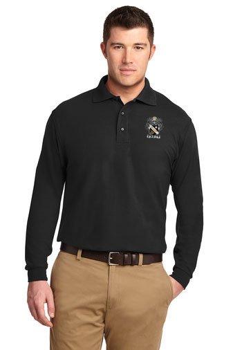 DISCOUNT-Fraternity & Sorority Greek Emblem Long Sleeve Polo