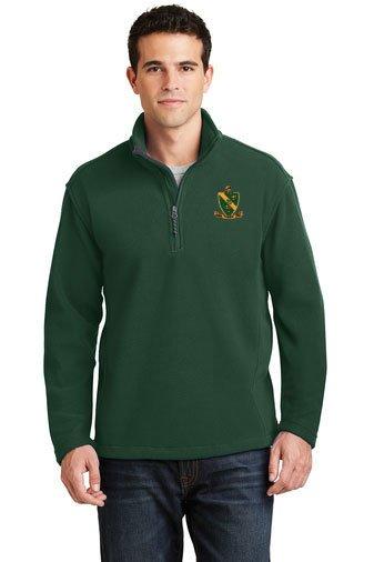 Fraternity & Sorority Crest Quarter Zip Fleece Pullover