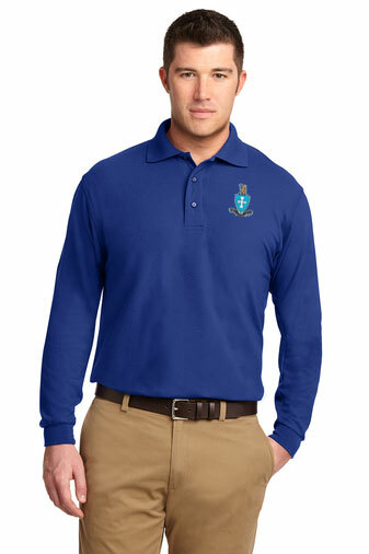 DISCOUNT-Sigma Chi Emblem Long Sleeve Polo