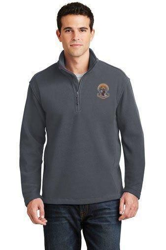 DISCOUNT-Sigma Pi Emblem 1/4 Zip Pullover
