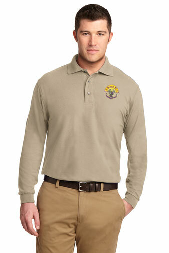 DISCOUNT-Sigma Pi Emblem Long Sleeve Polo