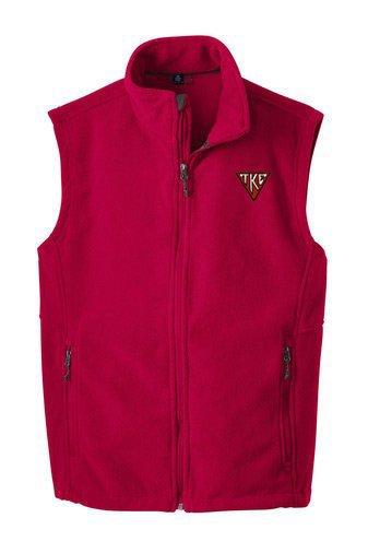 Tau Kappa Epsilon Fleece House Plate Triangle Vest
