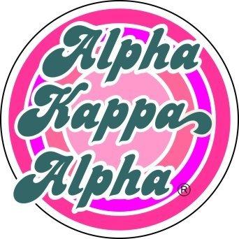 Alpha Kappa Alpha Retro Round Decals