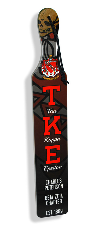 Full Color Crest - Shield Greek Paddles