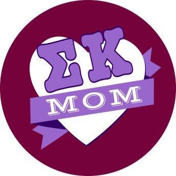Sigma Kappa Mom Round Decals