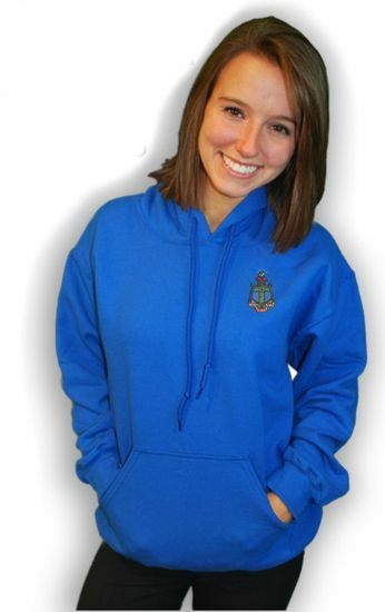 DISCOUNT-World Famous Crest - Shield Greek Hoodie - $25!