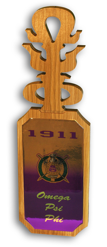 Omega Psi Phi Domed Wall Hanging Paddle