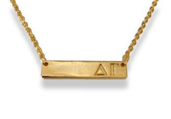 Delta Gamma Cross Bar Necklace