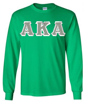 $23.99 Alpha Kappa Alpha Custom Twill Long Tee
