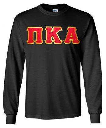 $19.99 Pi Kappa Alpha Lettered Long sleeve