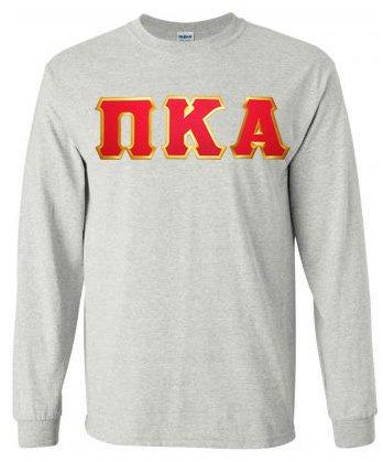 DISCOUNT Pi Kappa Alpha Lettered Long sleeve