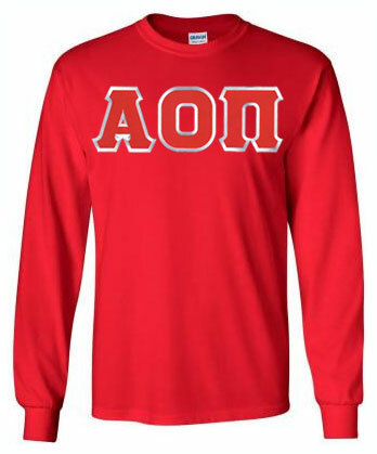 DISCOUNT Alpha Omicron Pi Lettered Long Sleeve Tee