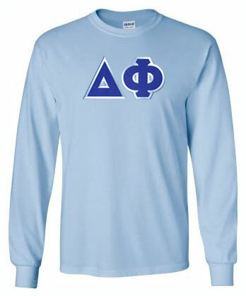 DISCOUNT Delta Phi Lettered Long Sleeve Tee