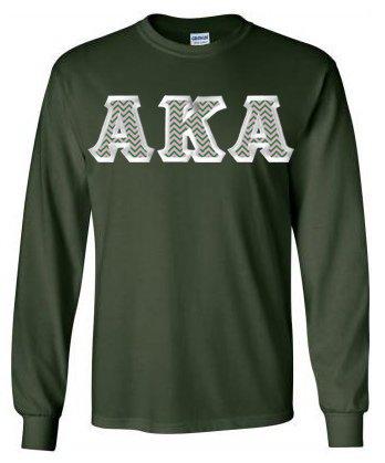 $23.99 Alpha Kappa Alpha Custom Twill Long Tee