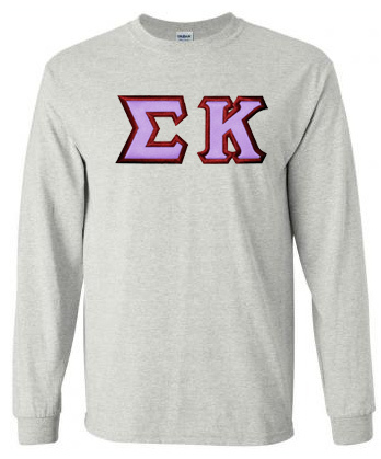 $23.99 Sigma Kappa Custom Twill Long Tee