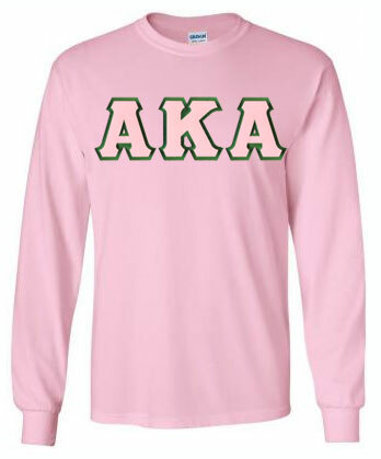 $25 AKA Lettered Long Sleeve Tee - MADE FAST!