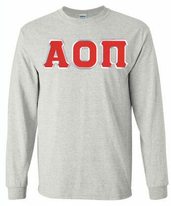 Alpha Omicron Pi Lettered Long Sleeve Shirt