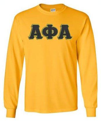 DISCOUNT Alpha Phi Alpha Lettered Long sleeve