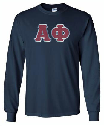 DISCOUNT Alpha Phi Lettered Long Sleeve Tee