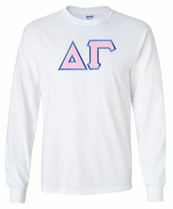 DISCOUNT Delta Gamma Lettered Long Sleeve Tee