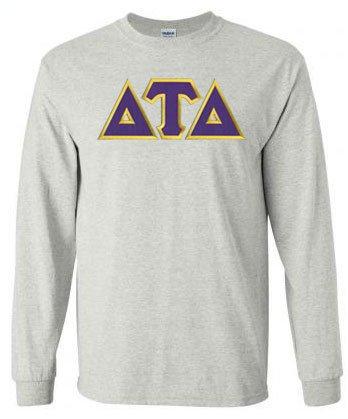 DISCOUNT Delta Tau Delta Lettered Long sleeve