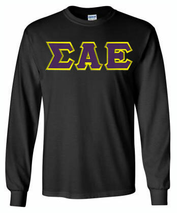 DISCOUNT Sigma Alpha Epsilon Lettered Long sleeve