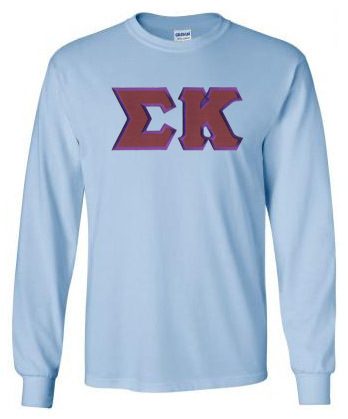 DISCOUNT Sigma Kappa Lettered Long Sleeve Tee