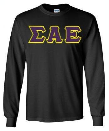 Sigma Alpha Epsilon Lettered Long Sleeve Shirt