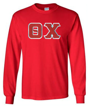 Theta Chi Lettered Long Sleeve Tee- MADE FAST!