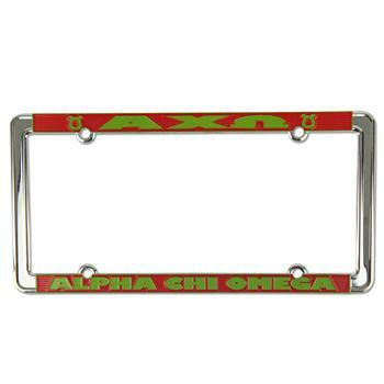 Alpha Chi Omega New Design License Plate Frame