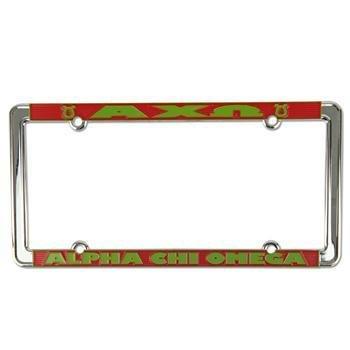 Alpha Chi Omega New Design License Plate Frame