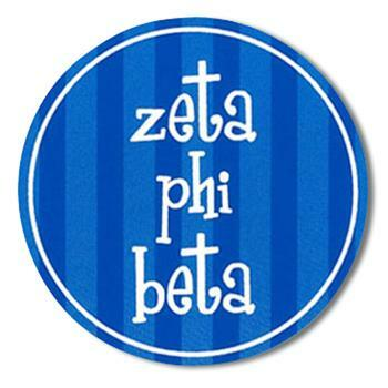 "Zeta Phi Beta Bumper Stickers 4"" Round"