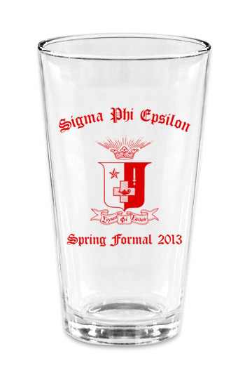 Custom Printed Mixing Glass Design #11