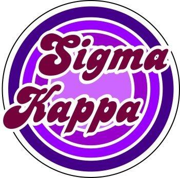 Sigma Kappa Retro Round Decals