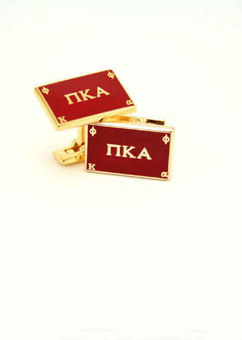 Pi Kappa Alpha Gold Plated Flag Cufflinks