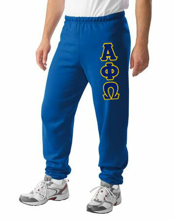 Alpha Phi Omega Lettered Sweatpants